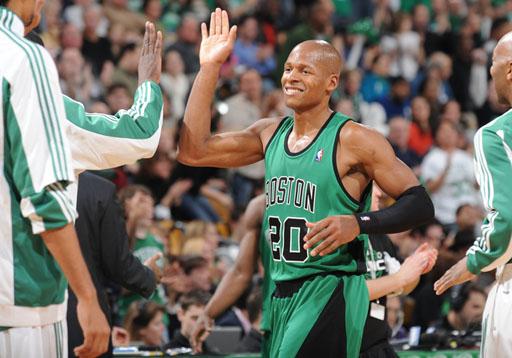 Ray Allen, the Boston Celtics hero tonight