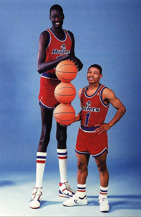 Manute Bol and Mugsey Bogues