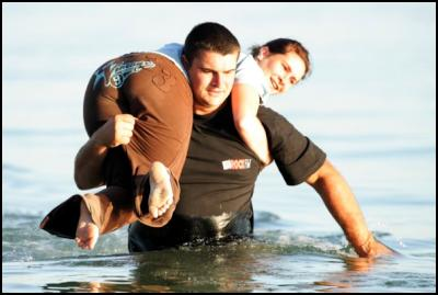 Wife Carrying Couple