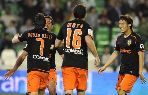 David Villa, Juan Manuel Mata, David Silva, Valencia