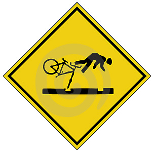 Cycling Accident sign