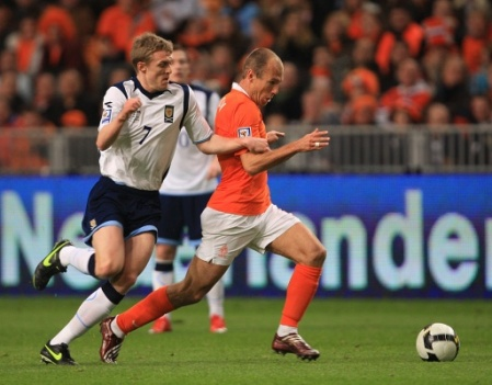 Arjen Robben and Darren Fletcher