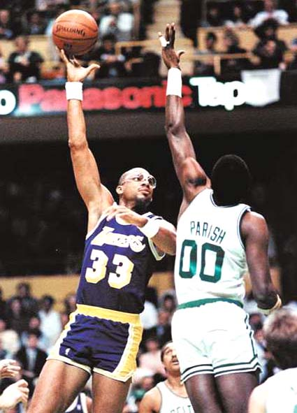 Kareem Abdul-Jabbar and Robert Parish