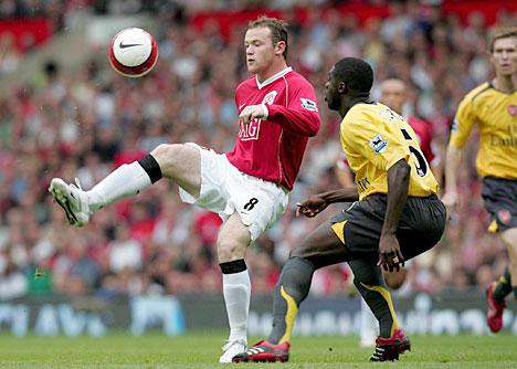 Wayne Rooney and Kolo Toure