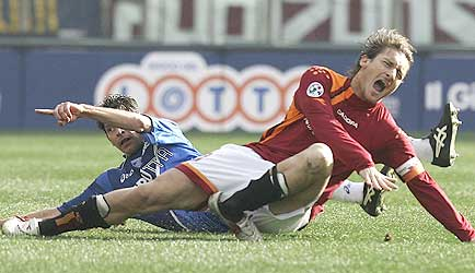Francesco Totti Broken Ankle