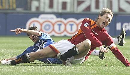 Francesco Totti Broken Ankle