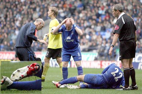 Soccer Bloody Injury