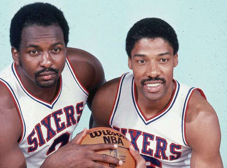 Moses Malone and Dr J