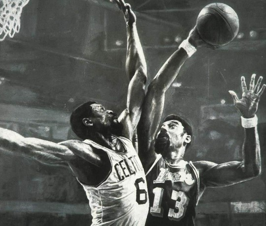 Wilt Chamberain and Bill Russell