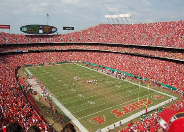 arrowhead stadium Top Ten Biggest NFL Stadiums