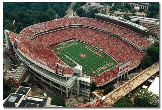 sanford stadium Top Ten Biggest College Football Stadiums