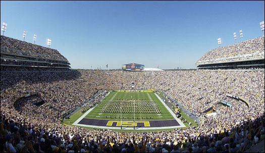 tiger stadium lsu Top Ten Biggest College Football Stadiums