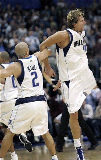 Jason Kidd and Dirk Nowitzki