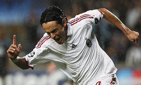 Filippo Inzaghi Top Ten UEFA Champions League Scorers of All Time