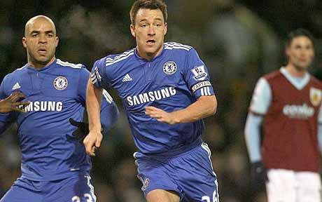 John Terry Terrys Header Gives Chelsea a 2 1 Win at Burnley