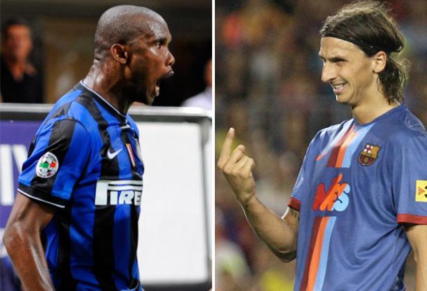 Samuel Eto'o and Zlatan Ibrahimovic
