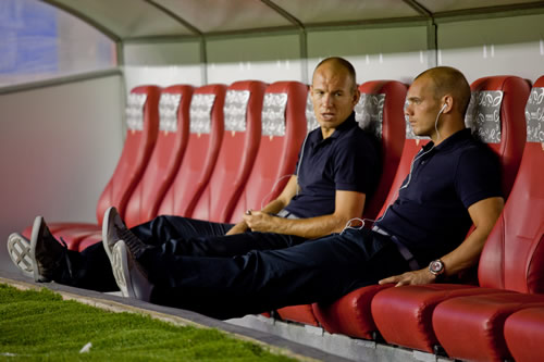 Arjen Robben and Wesley Sneijder Champions League Final 2010   What to Watch For   Robben and Sneijder