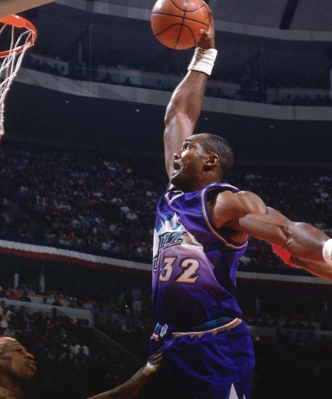 Karl Malone Top Ten NBA Steals Leaders of All Time