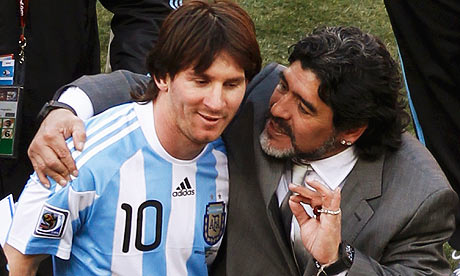 Messi Maradona 2010 World Cup Knockout Stage   Six Players Who Need to Step Up