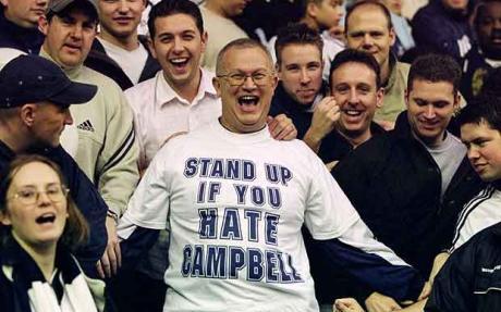 Campbell odiado por el Tottenham