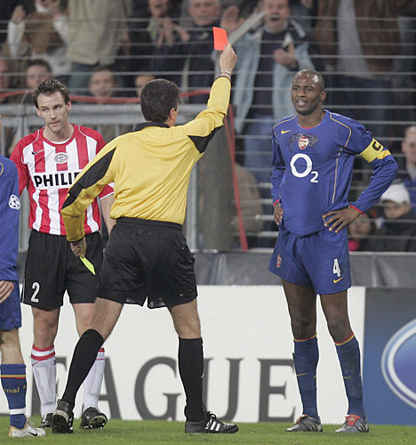 Patrick Vieira The English Premierships Red Card Kings