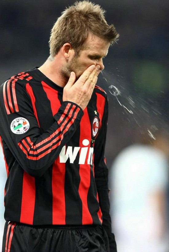 Beckham Snot 15 Of the Funniest Soccer Pictures Ever