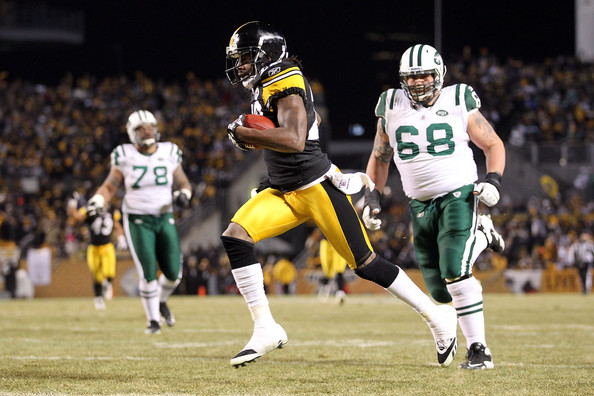 William Gay running for a touchdown after recovering a fumble off of Jets ...