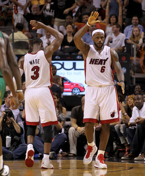 LeBron Wade LeBron and Miami Finally Beat Celtics
