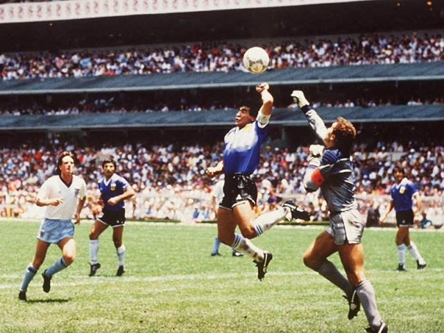 Diego Maradona e1304499838852 The Worst Soccer Referee Mistakes of All Time