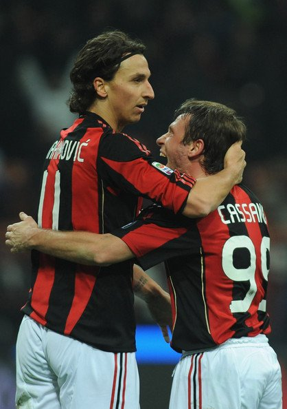 Ibrahimovic Cassano Zlatan Ibrahimovic Craziness and AC Milans Champions League Hopes