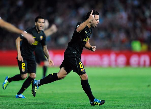 Xavi Free Kick Wins It For Barcelona In Granada