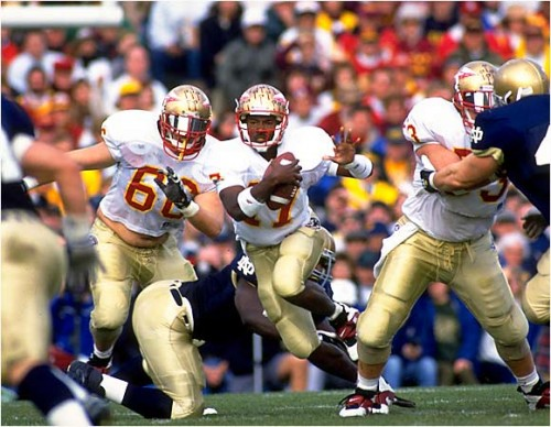Florida State vs Notre Dame e1320235008154 LSU   Alabama Game of the Century Predecessors