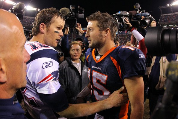 Brady Tebow1 Brady & Patriots Too Good for Tebow & Broncos