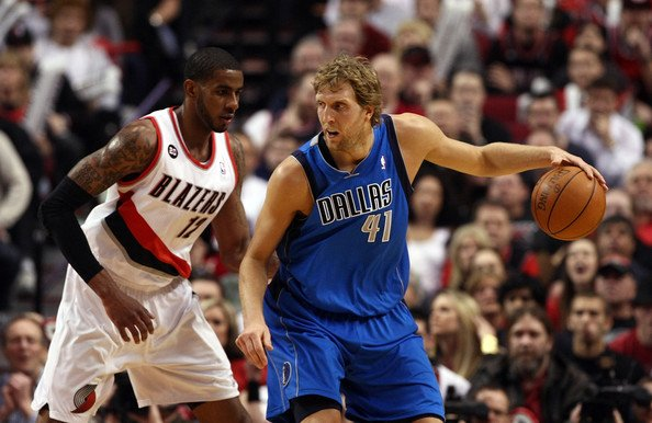 Dirk Nowitzki Lamarcus aldridge Top Five Power Forwards in the NBA, Going Into 2011 2012