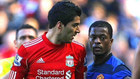 Suarez Evra e1324463921327 Suarez   Evra Racial Abuse Case Becomes Messy for Liverpool