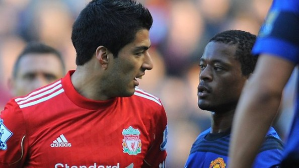 evra suarez e1324464004437 Suarez   Evra Racial Abuse Case Becomes Messy for Liverpool