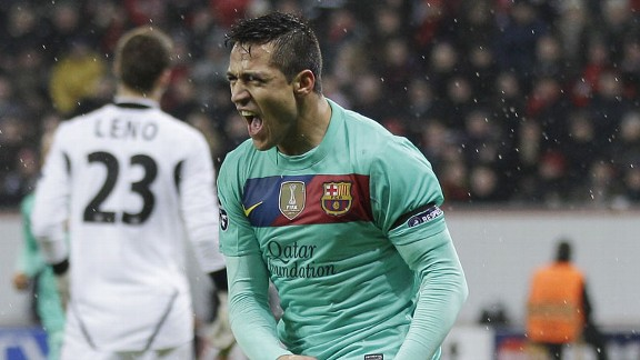 Alexis Sanchez Alexis and Messi Too Much for Bayer (Leverkusen vs Barcelona)