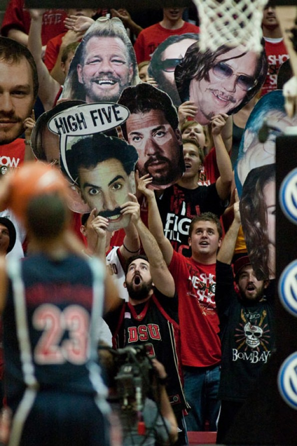 Borat Aztecs Fans e1329495809804 Awesome Ways to Distract Free Throw Shooters