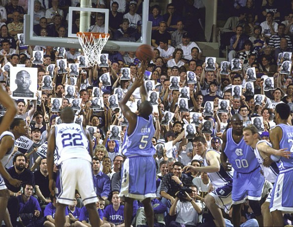 Duke Fans e1329495258961 Awesome Ways to Distract Free Throw Shooters