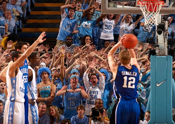 UNC vs Duke e1329495125638 Awesome Ways to Distract Free Throw Shooters
