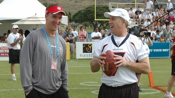 Elway Manning e1332248634854 Good for Manning & Broncos, Bad for Tebow & the Team That Signs Him