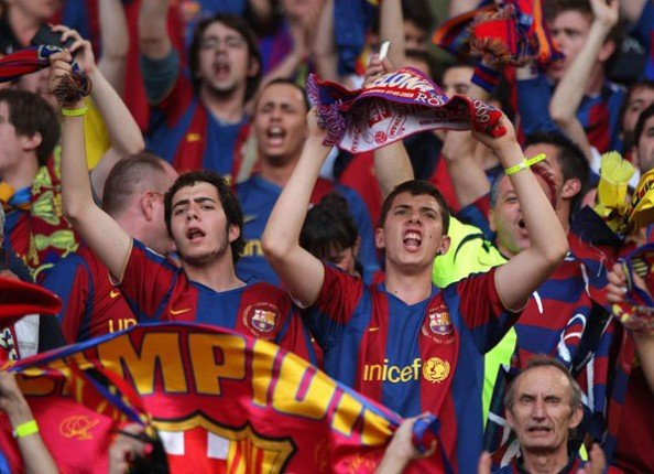 Barcelona Fans e1334838908391 The Most Valuable Soccer Teams in the World