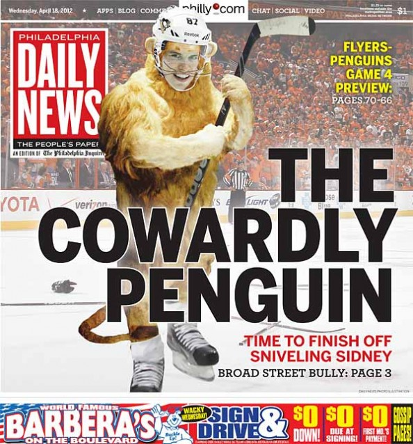 Crosby Cover e1334759502167 Sidney Crosby Trying to Spark Life Into Penguins