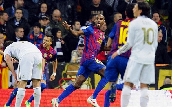 Eric Abidal e1335001085782 Barcelona vs Real Madrid   All the Clasico Matches During the Guardiola & Mourinho Era