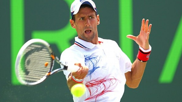 Novak Djokovic e1333310322433 Novak Djokovic Wins Sony Ericsson Open With That Extra Gear Andy Murray Doesnt Have