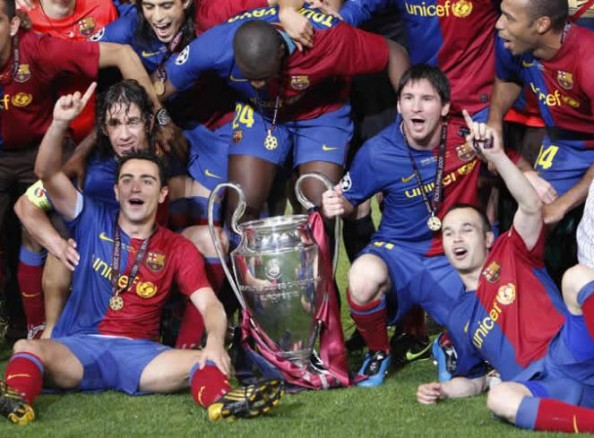 Barcelona 2009 e1337190764706 7 Clubs That Have Won the Treble