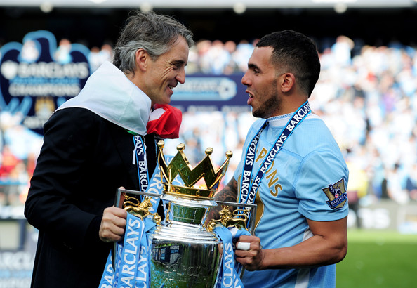 Mancini Tevez Highs & Lows of the Insane Finish to the 2011 2012 Premiership Season