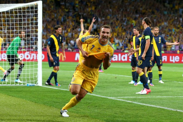 Andriy Shevchenko2 e1339447523863 Euro 2012 – Day 4 Summary (France vs England, Ukraine vs Sweden)