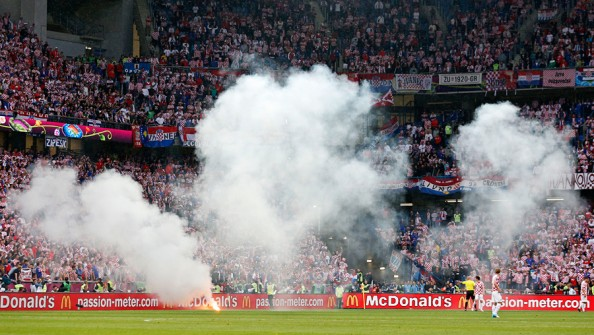 Croatia Flares e1339707611845 Euro 2012   Day 7 Summary (Italy vs Croatia, Spain vs Ireland)