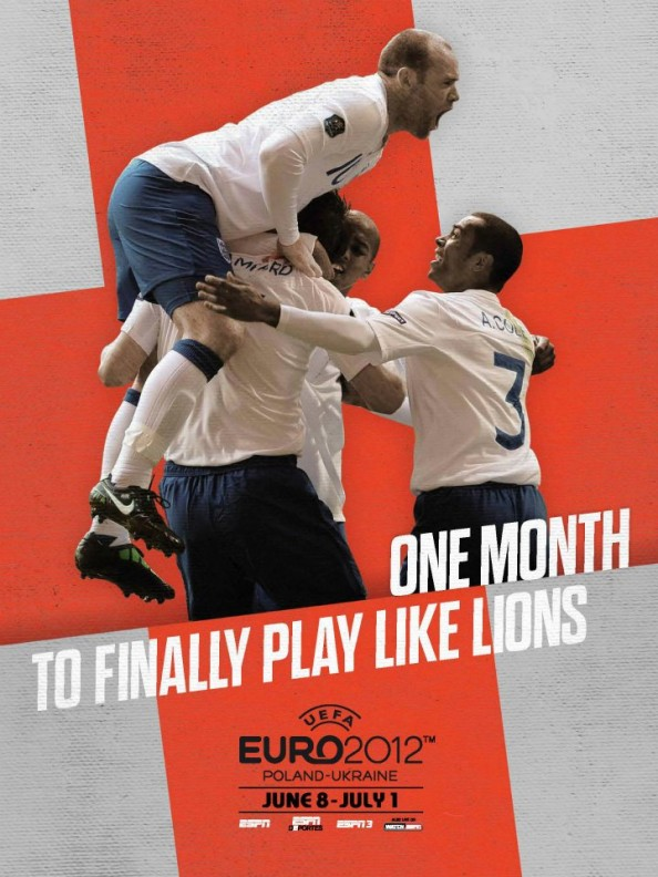 England Euro 2012 Poster e1339056202712 Euro 2012 Posters For All 16 Nations
